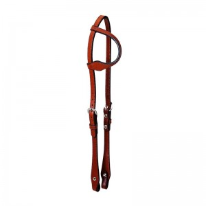 Sliding Ear Headstall Shown in Antiqued Leather