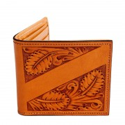 Bi-Fold Wallet with ribbon for name or initials.