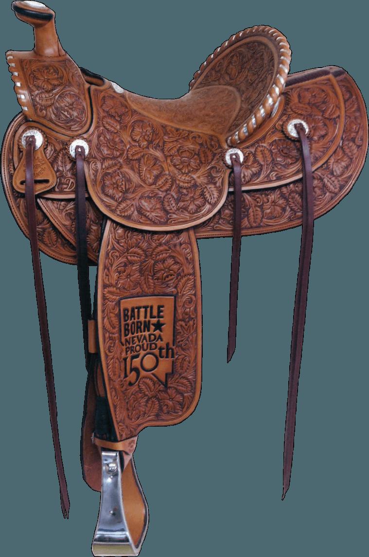 Nevada Sesquicentennial Saddle J M Capriola Elko