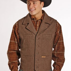 Men's Plaid Wool Vest