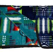 Bed Roll Blanket Navy/Turq