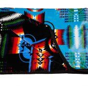 Bed Roll Blanket Blk/Blue