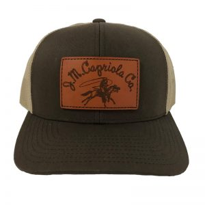 Leather Patch Cap Brown