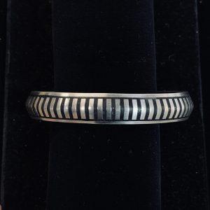 Sterling Silver Stripe Cuff