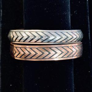 Chevron Copper Cuff