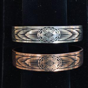 Engraved Copper Cuff